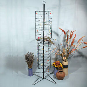 Metal Rotating Earring Rack Wire Jewelry Display Stand 24 X 63 1 2 h