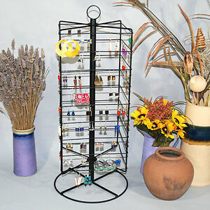 Metal Rotating Earring Rack Wire Jewelry Display Stand 28 1 4 h