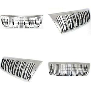 New Ch1200234 Chrome Shell W Black Insert Grille For Jeep Grand Cherokee 99 03
