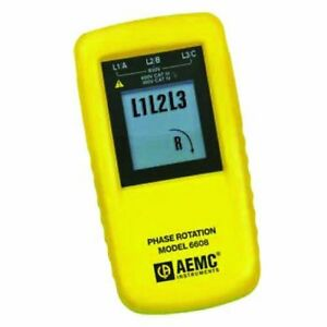 Aemc 6608 Phase Rotation Meter 850v Voltage 15 To 400hz Frequency