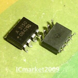 50 Pcs Hcpl 3150 Smd 8 Hcpl3150 A3150 0 5 Amp Output Igbt Gate Drive Optocoupler