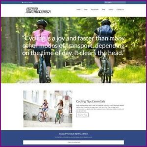 Cycling Website Business For Sale earn 936 00 A Sale free Domain free Hosting