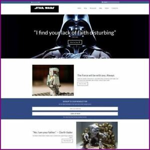 Star Wars Website Business For Sale earn 997 12 A Sale free Domain free Hosting