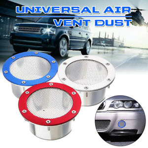 Universal Car Racing Air Duct Grille Bumper Vent Inlet For Cold Air Intake Us