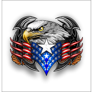 American Bald Eagle Tribal Us Flag Sticker Cars Trucks Windows Laptop Decal