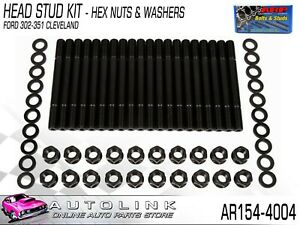 Arp Head Stud Kit Hex Nuts Suit Ford 302 351 Cleveland V8 Ar154 4004