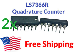 2 pack Lsi 7366r Ls7366r Ls7366 Quadrature Encoder Counter Dip Servo Ic Arduino