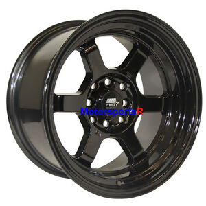 Mst Wheels Time Attack Rims 15 X 8 0 Black 4x4 5 85 Toyota Celica Gts Gt 5mge