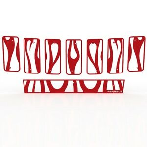 Grille Insert Guard Vertical Flame Red Fits 11 13 Jeep Cherokee