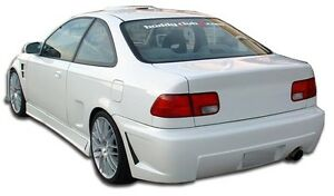 96 00 Honda Civic 2 4dr Duraflex B 2 Rear Bumper 1pc Body Kit 105538
