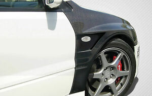 03 06 Mitsubishi Lancer Evolution 8 9 Carbon Fiber Vented Fenders 2pc 109063