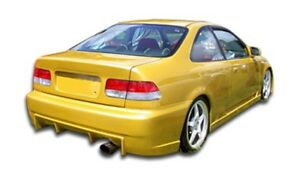 96 00 Honda Civic 2 4dr Duraflex Buddy Rear Bumper 1pc Body Kit 101737