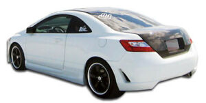 06 11 Honda Civic 2dr Duraflex Tr N Rear Bumper 1pc Body Kit 104929