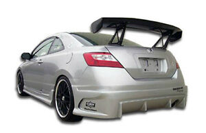 06 11 Honda Civic 2dr Duraflex Raven Rear Bumper 1pc Body Kit 103333