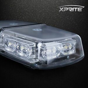 Xprite Green Light Bar Roof Top Emergency Hazard Flash Magnetic Strobe 36 Led