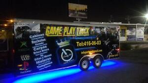 Mobile Game Trailer Utility Cargo Enclosed 6x20 Party Trailer