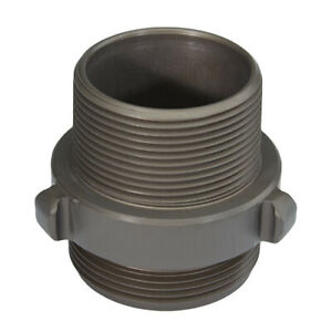 Aluminum 2 1 2 Nh To 2 1 2 Npt Double Male Fire Hose Adapter