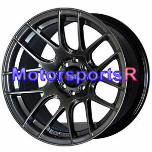 16 16x8 20 Xxr 530 Chromium Black Concave Rims Wheels Stance 02 Honda Civic Si