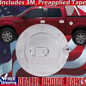 2009 2010 2011 2012 2013 2014 Ford F150 F 150 Chrome Abs Gas Door Cover Fuel Cap