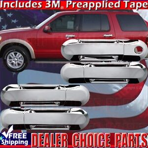 2002 2010 Ford Explorer Mercury Mountaineer Chrome 4dr Door Handle Cover W O Psk