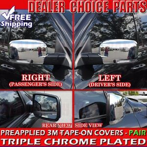 For 2009 2012 Dodge Ram 1500 Triple Chrome Mirror Covers Nontowing W Signal