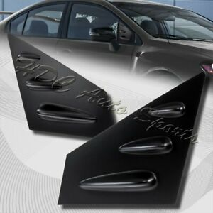 For 2015 2018 Subaru Wrx Sti 4 Dr Abs Black Side Window Louvers Scoop Cover Vent