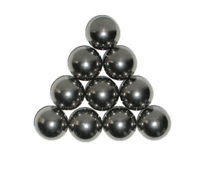 Ten 1 Inch Soft Polish Carbon Steel Bearing Balls Can Be Machined