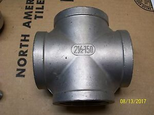 2 1 2 Stainless Steel 316 Cross 4 way Pipe Fitting
