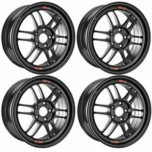 Enkei 379 790 6545bk Rpf1 17x9 5x114 3 45mm Offset 73mm Matte Black Set Of 4