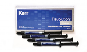 Kerr Revolution Formula 2 Flowable Light Cure Composite 4x 1g Syringe 20 Tips
