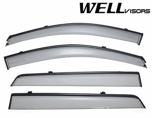 For 2007 2012 Hyundai Santa Fe Wellvisors Side Window Visors W Black Trim