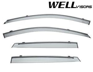 For 05 09 Kia Spectra5 Wellvisors Window Visors Deflectors W Black Trim