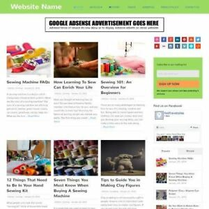 Arts And Crafts Store Professionally Designed Affiliate Website For Sale