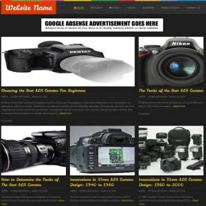 Cameras Store Mobile Friendly Responsive Website Business For Sale Domain