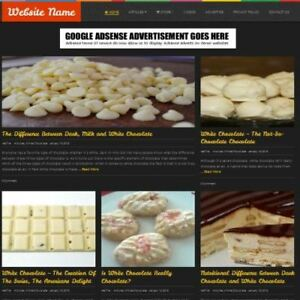 Chocolate Store Business Website For Sale Mobile Friendly Responsive Design