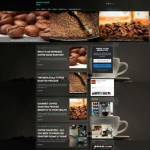 Coffee Machine Store Mobile Friendly Responsive Website Business For Sale