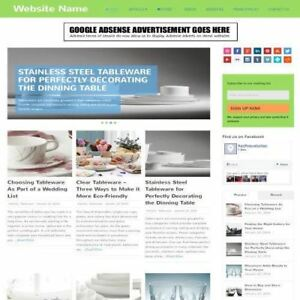 Cooking Store Established Online Business Website For Sale Mobile Friendly