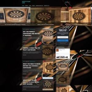 Darts Store Professionally Designed Affiliate Website For Sale Domain