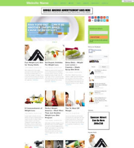 Diet Store Business Website For Sale Mobile Friendly Responsive Design