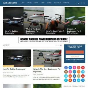 Drones Store Established Online Business Website For Sale Mobile Friendly