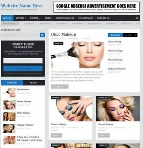Established Beauty Store Online Business Website For Sale Free Domain