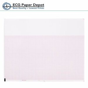 Ecg Ekg Thermal Paper For Mortara Ecg Machines Z fold Red Grid 12 Pads Per Case