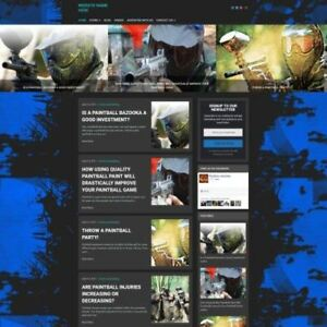 Established Paintballing Store Online Business Website For Sale Mobile Friendly