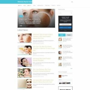 Established Skincare Store Online Business Website For Sale Mobile Friendly