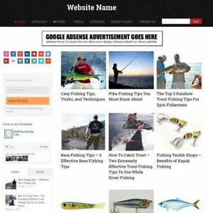 Fishing Store Mobile Friendly Responsive Website Business For Sale Domain