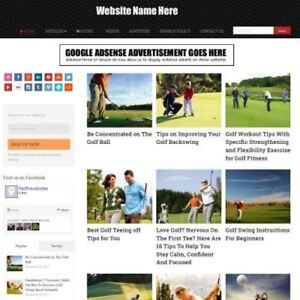 Golf Store Professionally Designed Affiliate Website For Sale Domain