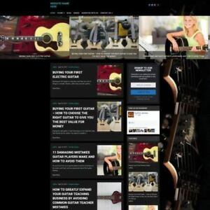 Guitar Store Business Website For Sale Mobile Friendly Responsive Design
