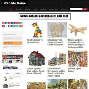 Jigsaws And Puzzles Store Mobile Friendly Responsive Website Business For Sale
