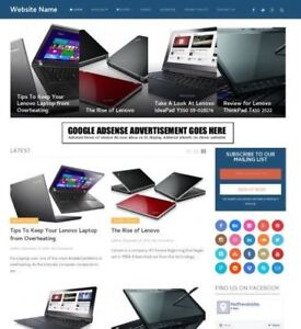 Laptops Store Professionally Designed Affiliate Website For Sale Domain