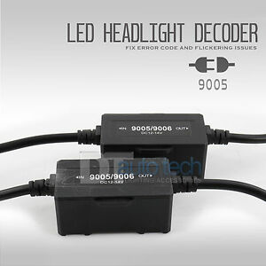 Error Free Headlight Kit Canbus Led Decoder Drl Hid Anti Flicker Load Resistor
